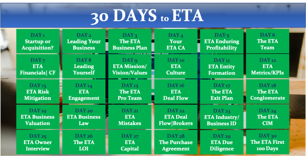 30 Days to ETA by Tip of the Spear Ventures